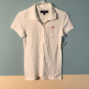 NWT Aero White Polo